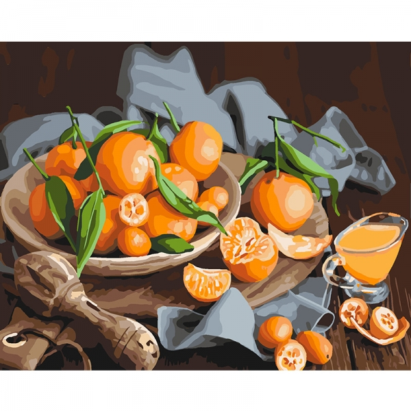 Картина по номерам Идейка 40*50 см Оранжевое наслаждение (КНО5545)