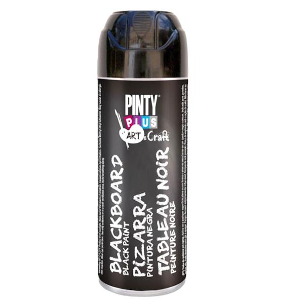 Краска аэрозоль, Черная, с эффектом графитной доски, 150 мл, PINTYPLUS