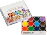 Краски акриловые по стеклу и керамике DECOLA 12 цветов 20 мл