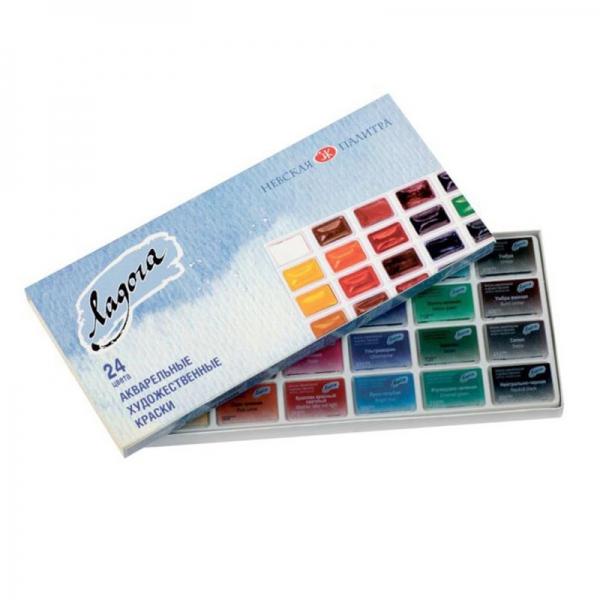 Набор акварельных красок Ладога 24 цвета