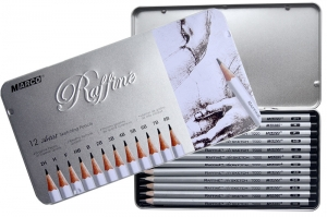 Набор графитных карандашей Marco Raffine для рисунка (2H-8B), 12 шт