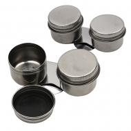 Маслёнка двойная, металлическая с крышкой (d:4х9см), D.K.ART & CRAFT