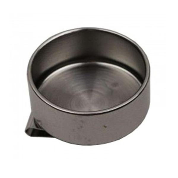 Масленка художественная одинарная металлическая (6,1*3,9 см)