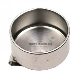 Масленка художественная одинарная металлическая, диаметр 4 см