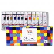 Набор масляных красок 12 цветов 20 мл ROSA Studio