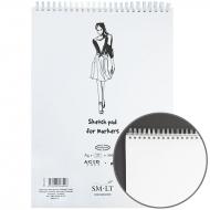 Альбом для маркеров на спирали SMILTAINIS AUTHENTIC (А4) 100г/м2, 50л