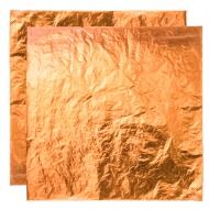 Поталь свободная в листах МЕДЬ (имитация), 16х16 см