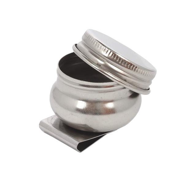 Масленка художественная одинарная металлическая с крышкой (4,2 см)