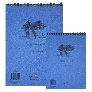 Альбом для акварели на спирали Smiltainis Authentic А3, А4,  А5  280 г/м2 35 листов