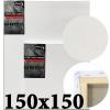Холст на подрамнике Monet итальянский хлопок 320 г/м2 среднее зерно 150*150 см