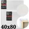 Холст на подрамнике Monet итальянский хлопок 320 г/м2 среднее зерно 40*80 см (MN4080)