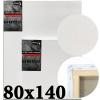 Холст на подрамнике Monet итальянский хлопок 320 г/м2 среднее зерно 80*140 см