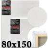 Холст на подрамнике Monet итальянский хлопок 320 г/м2 среднее зерно 80*150 см