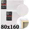 Холст на подрамнике Monet итальянский хлопок 320 г/м2 среднее зерно 80*160 см