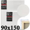 Холст на подрамнике Monet итальянский хлопок 320 г/м2 среднее зерно 90*150 см