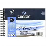 Альбом для акварели на спирали Canson Montval 12л 300 г/м 10,5х15 см