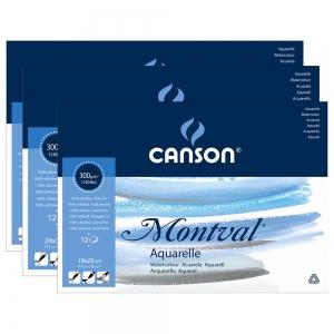 Альбом-склейка для акварели Canson Montval 1-Bloc 12 л 300 г/м