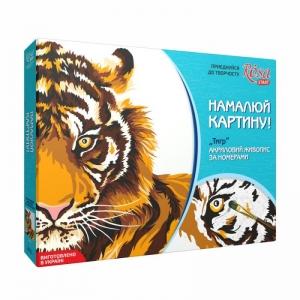 Картина по номерам «Тигр», 35*45 см