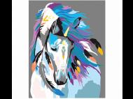 "Картина по номерам ""Indian horse"" 35*45"
