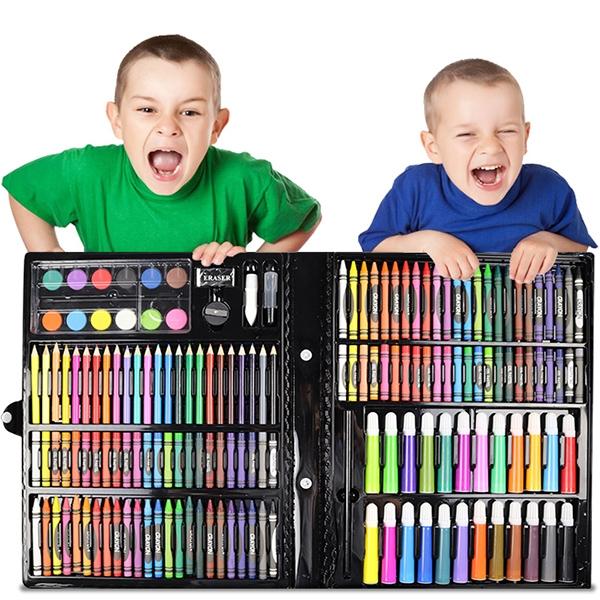 Набор для рисования Leonardo 168 предметов на подарок ребенку (черный)