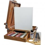 Набор для масляной живописи с настольным этюдником