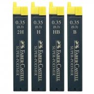 Грифели 0.3 мм Super-Polymer 12 шт в пенале в ассортименте