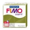 Полимерная глина (пластика) Fimo Soft, 57г, Оливковый