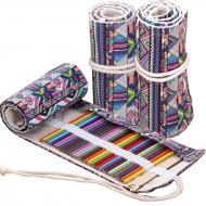 Пенал для карандашей Colore с завязками на 72 предмета