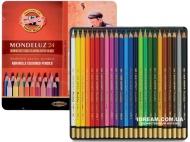 Набор акварельных карандашей Koh-i-Noor 3724 Mondeluz металл, 24 цвета