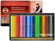 Набор акварельных карандашей Koh-i-Noor 3725 Mondeluz металл, 36 цветов