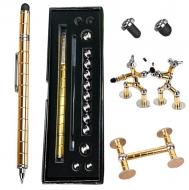 Набор магнитная ручка конструктор Polar Pen Gold + стилус