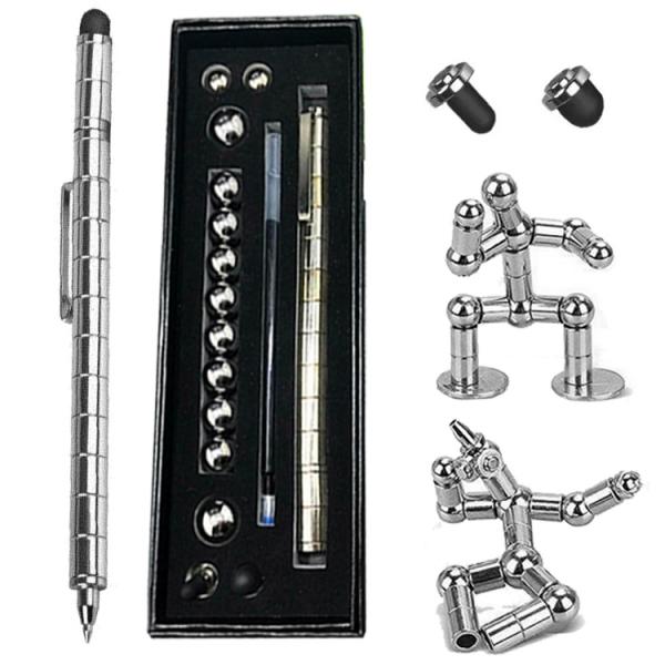 Набор магнитная ручка конструктор Polar Pen Silver + стилус