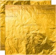 Поталь свободная, ЗОЛОТО, №2, (имитация) в листах, 16х16см, в карт.буклете, 10лист.
