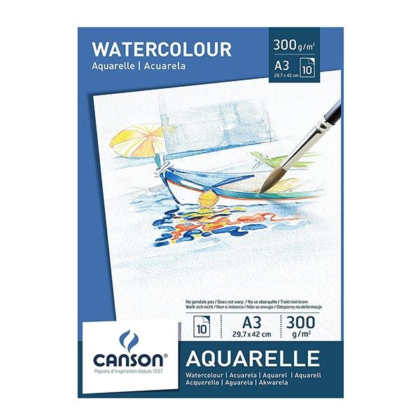 Блок бумаги для акварели Watercolour 300 гр, 10 листов
