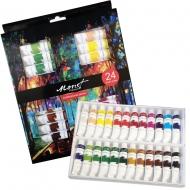 Набор профессиональных ярких акриловых красок Monet 24 цвета * 12 мл  тубы в картоне (1565160)