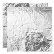 Поталь свободная в листах СЕРЕБРО (имитация), 16х16 см