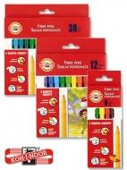 Фломастеры в наборах Koh-i-Noor 7710CB до 30 цветов