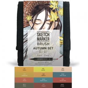 Набор маркеров SKETCHMARKER BRUSH Autumn Set, 12 цветов