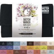 Набор маркеров SKETCHMARKER BRUSH Base set, 24 цвета