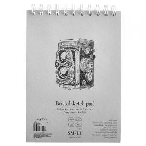 Альбом для эскизов белая гладкая бумага SMILTAIN AUTHENTIC (Bristol) А5 30л 185г/м