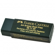 Резинка-ластик Faber-Castell DUST FREE зеленая винил