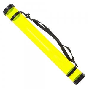Тубус для бумаги, пластик, прозрачный (желтый) (дл. 65см, d:8,3cм) K.ART & СRAFT