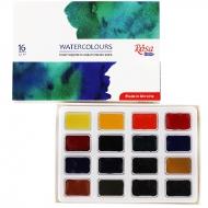 Набор акварельных красок ROSA Studio 16 цв, кювета, картон  (340204)