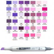 Маркер двусторонний SKETCHMARKER розовые и фиолетовые оттенки в ассортименте