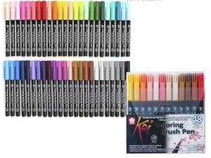 Набор маркеров Sakura Koi Coloring Brush Pen, 48 цветов