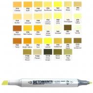 Маркер двухсторонний SKETCHMARKER желтые оттенки в ассортименте