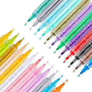 Универсальный акриловый маркер, толщина линии 2-3 мм, 24 цвета в ассортименте