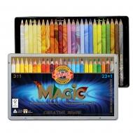 Карандаши цветные MAGIC 23 шт+блендер  в металлической упаковке