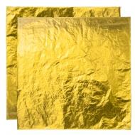 Поталь свободная в листах ЗОЛОТО №2 (имитация), 16х16 см 25листов