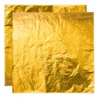 Поталь свободная в листах ЗОЛОТО №2,5 (имитация), 16х16 см